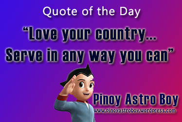 Love Your Country Pinoy Astro Boy